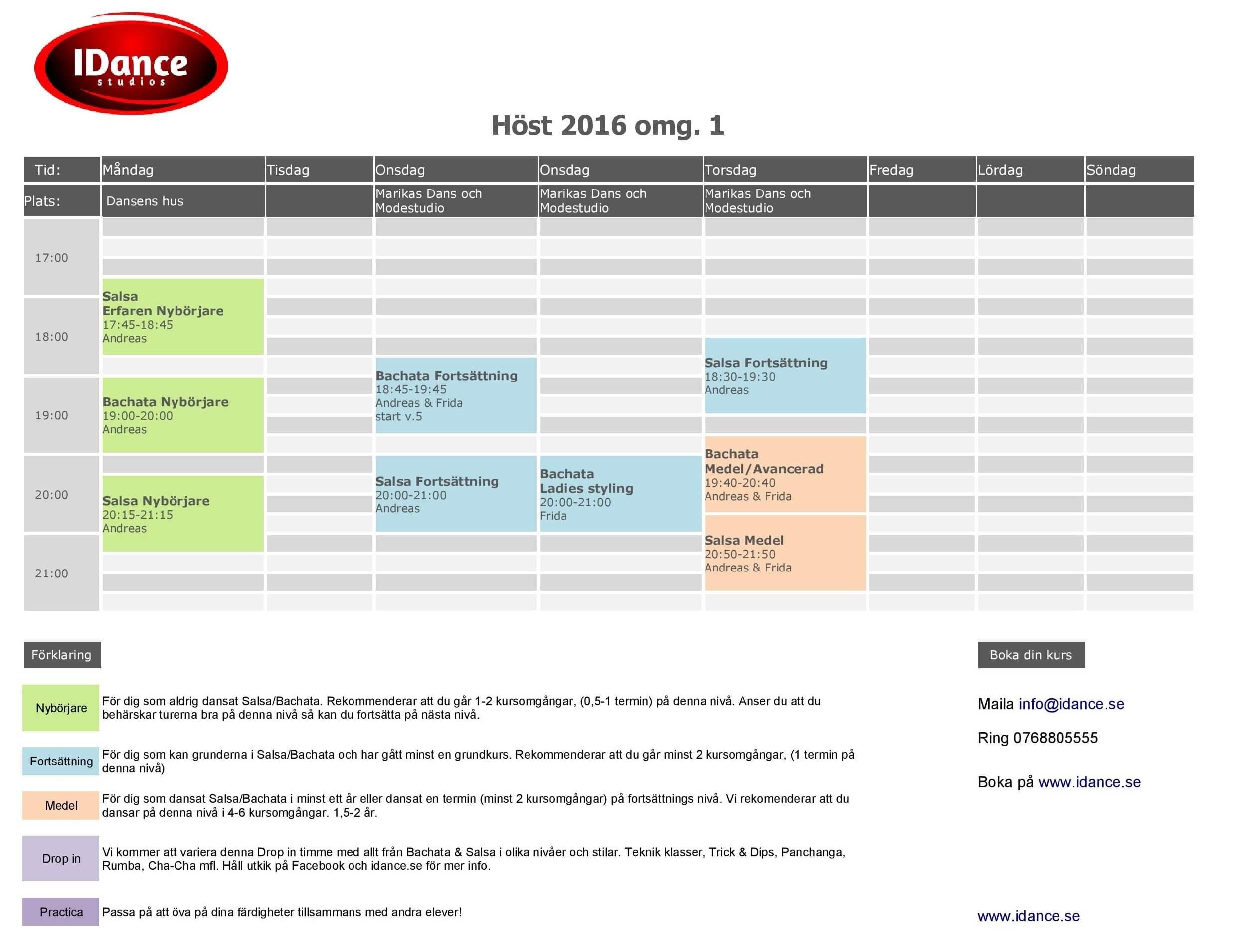 Schema Danskurser HT1-2016